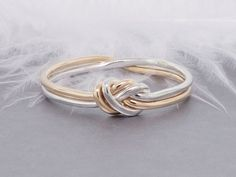 Love knot ring gold and silver ring promise ring by TDNCreations More