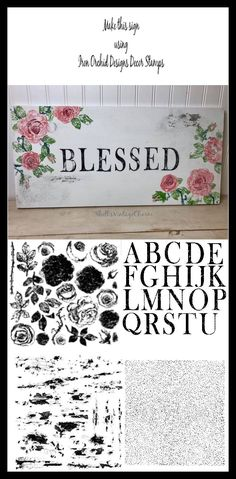 Customize your projects with the new beautiful Painterly Roses Decor Stamp from Iron Orchid Designs. Diy Home Decor Projects, Projects To Try, French Country Crafts, Stencil Painting, Stenciling, Iron Orchid Designs, 3d Texture, Diy Molding, Hand Painted Furniture