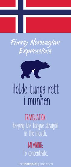 Norwegian Sayings and Idioms - Holde tunga rett i munnen