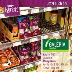 Du findest kajnok ab sofort nicht nur bei Galeria Kaufhof in Köln, sondern auch in den drei großen Galeria Kaufhof Filialen in Frankfurt, München und Berlin. Und mit Deiner Unterstützung findest Du kajnok bald in weiteren Filialen. Also greif zu – Du hast die Wahl zwischen 5 verschiedenen Nudelsorten oder Reis. Zuckerfrei, fettfrei, ohne Kohlehydrate, glutenfrei und vegan. Schlemm Dich schlank! Penne, Ab Sofort, Frankfurt, Berlin, Vegan, No Sugar, Slim, Glutenfree, Germany