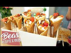 Dessert im Hörnchen | Zitronige Mascarpone Quark Creme in Eiswaffeln | Nachtischt anrichten - YouTube