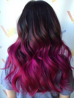 Mermaid Hair Girl Ideas - All About Hairstyles Pink Ombre Hair, Best Ombre Hair, Brown Ombre Hair, Hair Dye Colors, Cool Hair Color, Dip Dye Hair, Pinterest Hair, Mermaid Hair, Love Hair