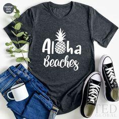 Beach Tanks, Beach T Shirts, Summer Shirts, Funny Summer, Summer Humor, Funny Tee Shirts, Cool Shirts, Maui, Hawaii