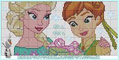 Elsa and Anna - Frozen Fever pattern by Dinha Ponto Cruz