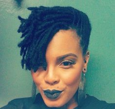 Embracing the Culture of Locs & Textured Hair — Gorgeous Makeup & Loc Style for Medium Length locs Short Locs Hairstyles, Short Dreads, Hairstyles 2016, African Hairstyles, Faux Dreads, Hairdos, Dreadlock Styles, Dreads Styles, Dreadlocks Court