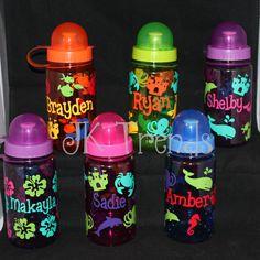 Personalized Kids Water Bottle by JKTrends on Etsy, $8.00