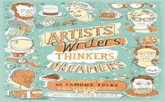 Pikošky zo života Baracka Obamu, Marilyn Monroe, či Michaela Jacksona. James Gulliver Hancock a jeho Ilustrované príbehy známych osobností.