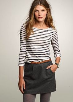 J Crew-dress up stripes