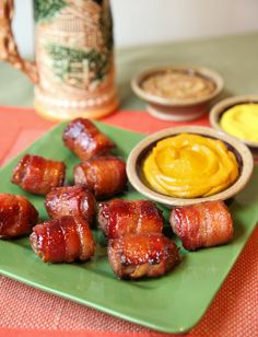 Recipe For Bacon Wrapped Beer N Brat Bites - If you are looking for a fun new appetizer to serve this weekend, look no further! This game day snack is an instant crowd-pleaser. #side #appetizer #lunch #bacon