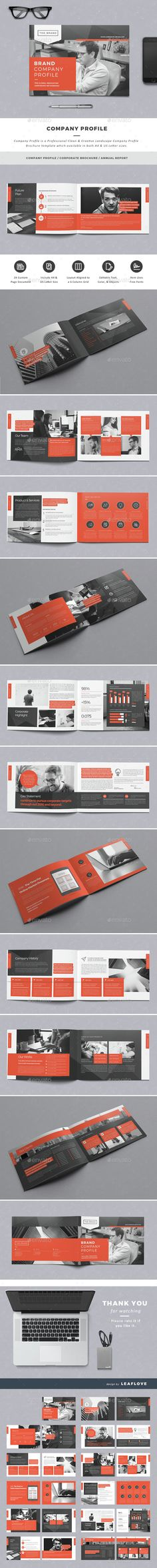 Company Profile Brochure Template InDesign INDD. Download here: http://graphicriver.net/item/company-profile/15021996?ref=ksioks