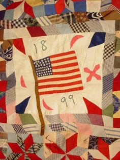 Antique quilt, 1899, maker unknown.