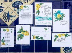 Citrus  Italian themed Wedding invitations with by CocoGoldBride - #danishandmadewedding