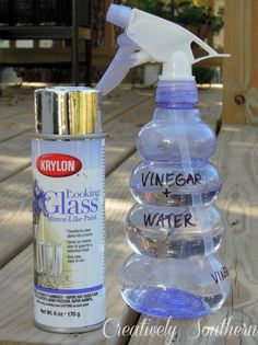 How to Make Mercury Glass - creatively southern (Flaschenlampe Bottle Lights) Wine Bottle Crafts, Mason Jar Crafts, Bottle Art, Mason Jars, Diy Bottle, Vodka Bottle, Crafty Projects, Diy Projects To Try, Spray Paint Projects