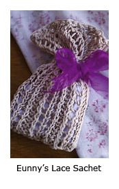 Free Pattern: Knitted Lace Sachet - Knitting Daily - Knitting Daily