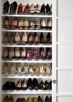 I've always said - if I ever get my dream house, I will have a shoe closet in the hallway I walk in through. We always throw our shoes off when we first walk in anyways. This way they will have a proper place that does not involve me moving 20 pairs of shoes at once halfway across the house once every few weeks.