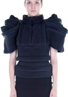 Sculptural Knitwear with beautiful 3D construction & symmetry - shape & structure, fashion details // Sandra Backlund