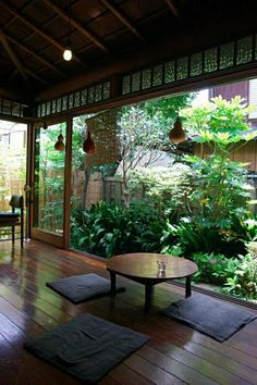Japanese garden patio landscape ideas Zen garden ideas round coffee table