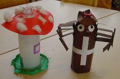 lampion paddenstoel en spin van een fles