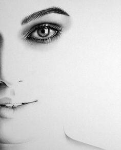 Keira Knightley Minimalismus Porträt Zeichnung von IleanaHunter