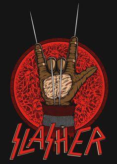 Freddy Krueger / Slayer mash-up shirt design from RIPT Apparel.