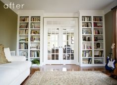 For the music room, divide with french doors and add book shelves, perfect.
