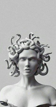 Medusa Art, Medusa Tattoo, Medusa Gorgon, Ancient Greek Sculpture, Greek Statues, Sculpture Art, Sculptures, Greek Mythology Art, Black Aesthetic Wallpaper