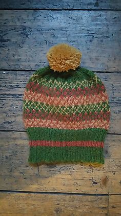"""Autumn colourway for """"Crisscross Hat"""" Wind And Rain, Knit In The Round, Criss Cross, Knitted Hats, Autumn, Wool, Knitting, Pattern, Design"""