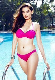 'Bollywood' Actor Evelyn Sharma in Neon Bikini for Mandate magazine Feb 2014
