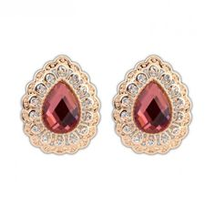 Buy Characteristic Water-drop Lace Earrings with cheap price!