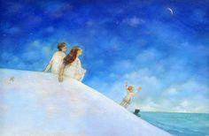 "Linda S. Wingerter illustration for ""Luna's Sea"". Illustrator, Disney Characters, Fictional Characters, Sea, Disney Princess, American, Illustrators, Ocean, Disney Princes"