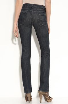7 For All Mankind® 'Kimmie' Straight Leg Jeans (Dark Rinse Wash) | Nordstrom - StyleSays