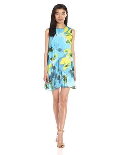 9ed06d877da BB Dakota Women s Courtney Large Floral Printed Chiffon Pleated Dress      You can get