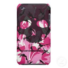 LFI Double Tap Skull Pink camo for the i-pod touch iPod Touch Case-Mate Case