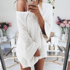 White off the shoulder top.