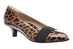 Leopard print pumps! Beautifeel Nadia in Tarta Patent