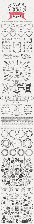Hand Drawn Romantic Decoration Pack • Available here → https://creativemarket.com/kite-kit/167958-Hand-Drawn-Romantic-Decoration-Pack?u=pxcr