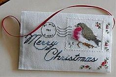 Merry Christmas Post Card  free pattern  Gallery.ru / Фото #1 - Postes - stepaniya13