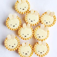 Bake Cheese Tart, Bakery Shop Design, Kawaii Dessert, Rabbit Cake, Egg Tart, Mini Tart, Sweet Little Things, Japanese Snacks, Biscuit Cake