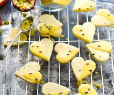 Passionfruit shortbread with passionfruit glaze recipe - By Australian Women's Weekly, Sweet, crumbly and glazed with the sweet tang of passionfruit. Perfect for morning or afternoon tea with the girls, and sweet treats for the kids. Homemade Shortbread, Lavender Shortbread, Shortbread Biscuits, Shortbread Recipes, Biscuit Cookies, Cookie Recipes, Cookie Desserts, Cake Cookies, Baking Recipes