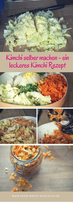 Kimchi selber machen – ein leckeres Kimchi Rezept Make kimchi yourself? We have a delicious recipe for you, with lots of love, but without any additions and bells and whistles. Try the Korean sauerkraut! Pork Chop Recipes, Meatloaf Recipes, Spicy Recipes, Fish Recipes, Asian Recipes, Healthy Recipes, Famous Recipe, Fermented Foods, Sauerkraut