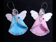 DIY~Sparkling Vintage/Retro Felt Angel Ornament! - YouTube