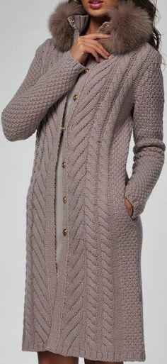 Crochet cardigans , coats and jackets - Custom made Col Crochet, Crochet Jacket, Crochet Cardigan, Long Cardigan, Knit Dress, Knitted Coat, Knit Fashion, Sweater Coats, Handmade Clothes