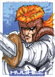 Shatterstar Sketch Card by JonHughes
