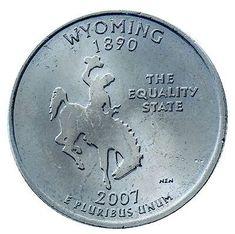 2007-P Wyoming Double-die Reverse Quarter