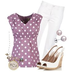 Polka Purple by qtpiekelso on Polyvore