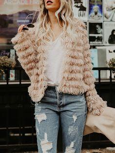 db2db6fbc5e5 Shop Stylish Warm Fluffy Coat right now, get great deals at Joyshoetique.  Bliss Pit Boutique