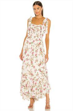 white floral maxi engagement dress- engagement outfits Engagement Dresses, Engagement Photo Outfits, Engagement Photos, How To Make Clothes, Making Clothes, Stylish Suit, Revolve Clothing, Ladies Dress Design, Vintage Looks