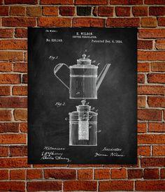 230 best coffee percolator images on pinterest coffee percolator coffee percolator art print coffee percolator patent coffee vintage coffee blueprint coffee malvernweather Gallery