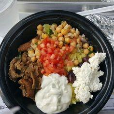 Photo of Padeli's Street Greek - Salt Lake City, UT, United States. The bowl with beef/lamb