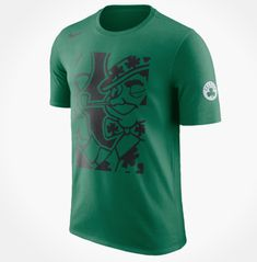 afa03ce1bfeeb3 Nike NBA Boston Celtics Leprechaun Cropped Logo Green T-Shirt Sz 3XL  AJ2407-312